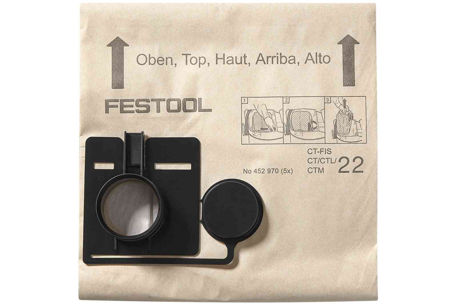 Sac filtre FESTOOL FIS-CT 22/5