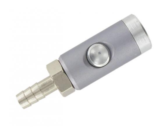 coupleur équipé d'une douille cannelée 9mm