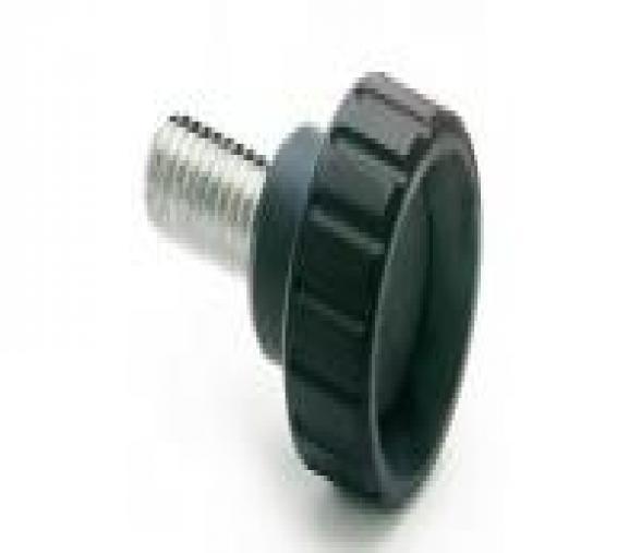 Bouton cannelé M8x40 diam.32mm