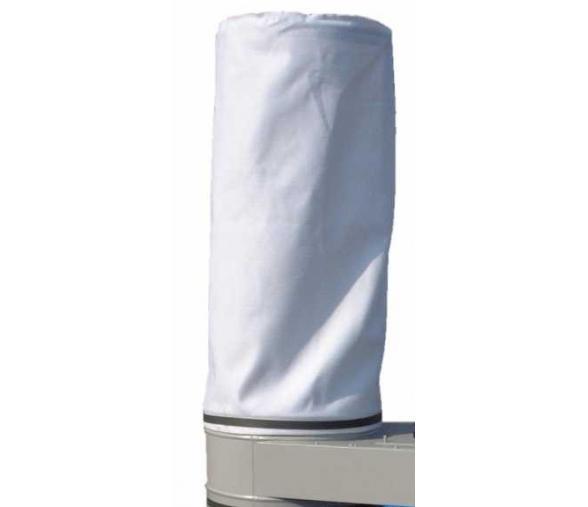 Manche feutre 400gr/m² anti-statique Ø.500 x H.1400mm, fond rond, ourlet bas, ficelle d'accroche en partie haute