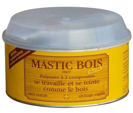 Mastic polyester bi-composant pour bois (500ml) coloris neutre